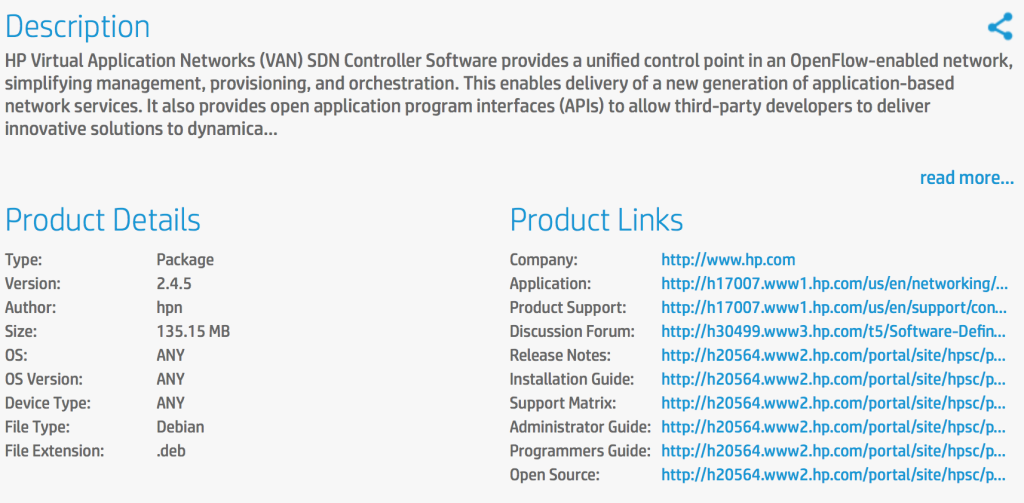 HP SDN VAN Controller